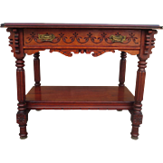 American Antique Victorian Eastlake Table Antique Victorian Desk Antique Side Table Work Table