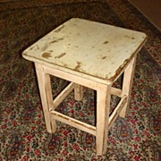 SOLD Antique Primitive Pine Country Stool Milking Stool Chair