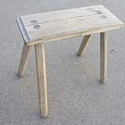 French Antique Primitive Milking Stool Bench Antique Foot Stool Antique Furniture