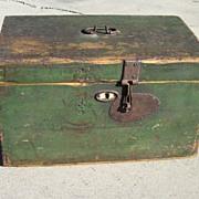 SOLD Primitive Antique Tool Box Antique Chest Trunk Antique Furniture