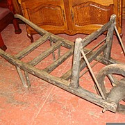 Antique Garden Cart Wheelbarrow Wagon Wheel
