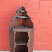 Antique Furniture primitive Antique Corner Cabinet Corner Wall Shelf
