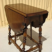 American Antique drop Leaf Table Lamp Table Coffee Table Stand