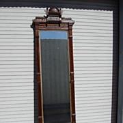 SOLD American Antique Victorian Eastlake Pier Mirror Antique Hall Mirror