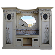 English Antique Victorian Bathroom Vanity Antique Cabinet Architectural Furniture