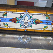 American Antique Stained Glass Window Victorian Architectural Element