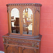 American Court Cupboard China Cabinet American Hutch Server