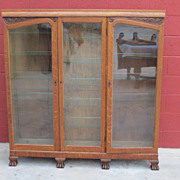 American Antique Bookcase Display Cabinet China Cabinet Antique Furniture