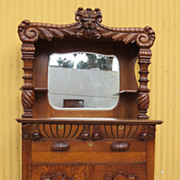 American Antique Sideboard Server Cabinet Hutch Antique Furniture