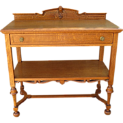 American Antique Console Table Antique Server Antique Work Table American Antique Furniture