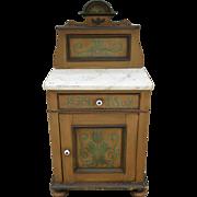 German Antique Pine Cabinet Antique Side Stand Antique Furniture