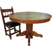 Antique Dining Table Round Oak Table Antique Furniture