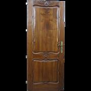 Original French Antique Door Antique Walnut Door French Architectural Elements