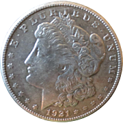Morgan Silver Dollar 1921 (S) VG