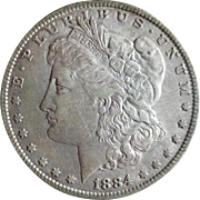 Morgan Silver Dollar 1884 EF