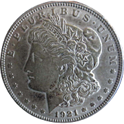 Morgan Silver Dollar 1921 VG