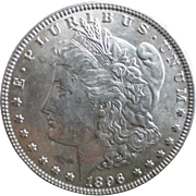 Morgan Silver Dollar 1896 MF 62
