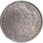 Morgan Silver Dollar 1887 AU