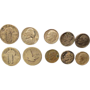 9 United States Silver Coins