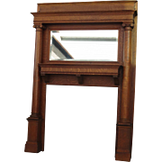 American Antique Fireplace Mantel Antique Victorian Tiger Oak Mantel Antique Architectural