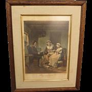 Framed Antique Etching Framed picture