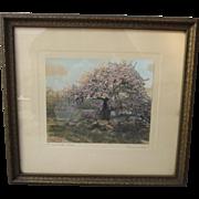 Antique Framed Print Artist Signed