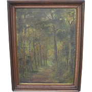 Antique Oil On Canvas Painting Antique Framed Painting