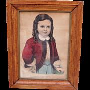 Antique Lithograph Antique Victorian Picture