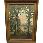 Antique Painting Framed Antique Oil on Canvas