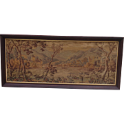 French Antique Tapestry Framed Antique Tapestry