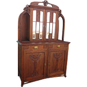French Antique Hutch Antique Cabinet Antique Buffet Antique Art Nouveau Furniture