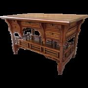 American Antique Desk Antique Work Table Antique Writing Desk American Victorian EastLake ...