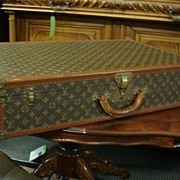 Original Antique Louis Vuitton Suitcase Steamer Trunk Luggage