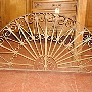 French Antique Hand Forged Iron Arch