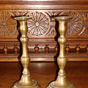 Pair of French Antique Candle Sticks