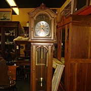 Beautiful Hand Carved Country French Grandfather Clock Grand Father Clock