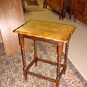 Barley Twist Side Table - Lamp Table