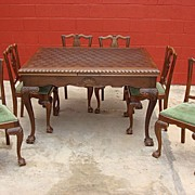 Antique Table and Dining Chairs Antique Dining Room Set  Antique Furniture