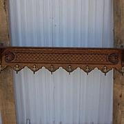 Antique Furniture French Antique Carved Wall Shelf Hat Rack Coat Rack
