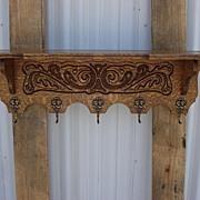 Antique Furniture French Antique Carved Wall Shelf Coat Rack Hat Rack Wall Shelf