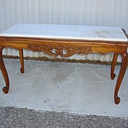 Antique Furniture Antique Country French Marble Top Coffee Table