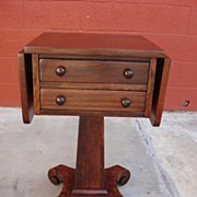 Antique Furniture American Antique mahogany Empire Stand Side Table Sewing Table Lamp Stand ..