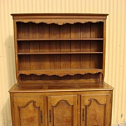 Vintage French Provincial Sideboard Server Hutch Cabinet