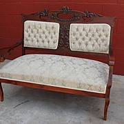 American Antique Victorian Settee Bench Antique Sofa Couch