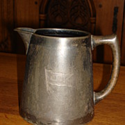 Original Antique Reed and Barton Pewter Pitcher Coffee Pot Tea Pot Milk - Cream Pitcher
