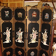 SOLD Beautiful original Hand Carved Folding Screen Room Divider