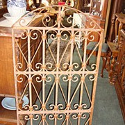 French Antique Hand Forged Iron Window Door Arch Gate