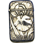 SOLD Floral motif match safe, sterling by Whiting Mfg. Co., #6020