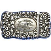 SOLD Jamestown Exposition 1607-1907match safe, sterling by Buchanan & Son