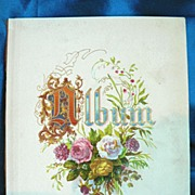 """5 7/8"""" x 4 7/8"""" Chromolithograph Flower Cover Page from Victorian Album"""